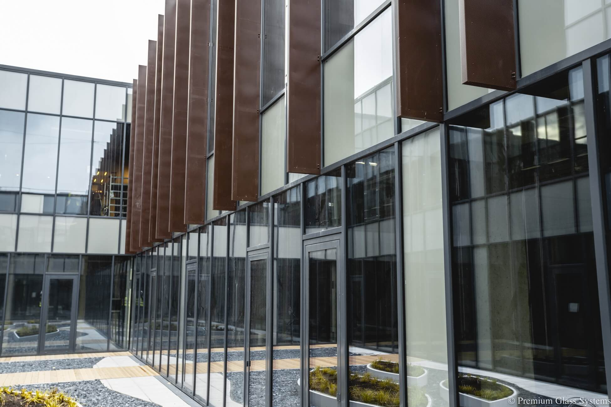 "Installation of aluminum and glass structures - ORIGO. SIA""PREMIUM GLASS SYSTEMS""."